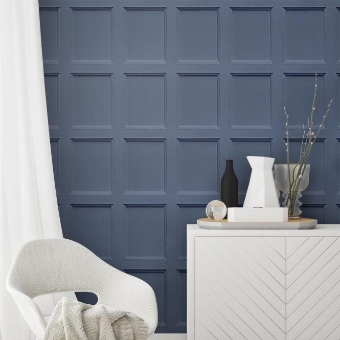 model dinding kayu minimalis warna solid dan pastel